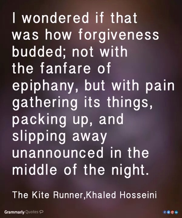 essays on forgiveness in the kite runner